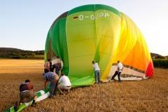 Ballonfahrt BKZ-Leser am 18. Juli 2010
